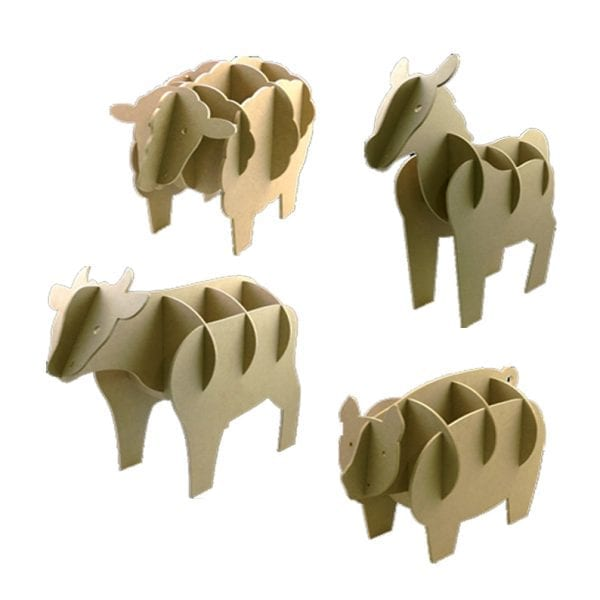 Nexus 3D Wooden Animals & Fence Set