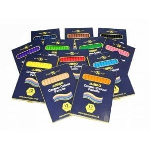 Nexus Jumbo Cromo-Colour Pencils (Hexagonal) 12 Colours