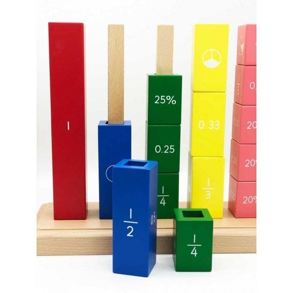 Wooden Fraction Stacker