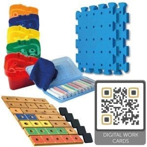 Pegs to Count Up 1-5 Set (with Digital Work Cards)