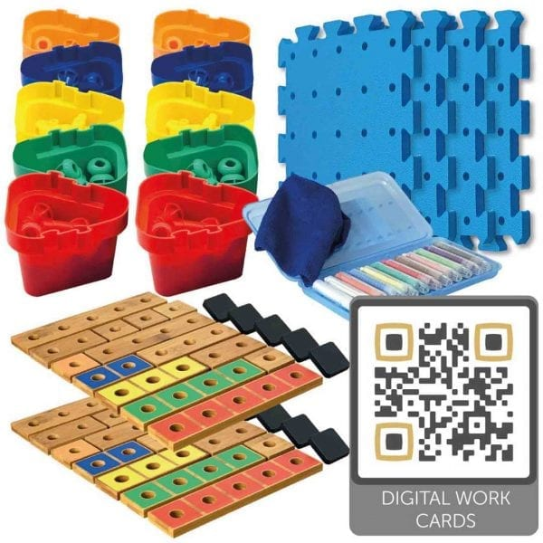 Exploring Numbers 1-5 Carbonated Bamboo Double Set (With Digital Work Cards)