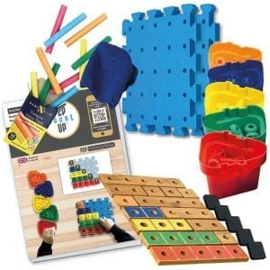 P2P for Numeracy Numbers 1-5 Lacquered Bamboo & Chalk Set with Work Cards