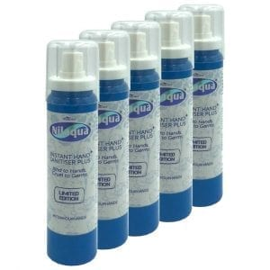 Nilaqua Hand Sanitiser – 100ml Spray (5 Pack)