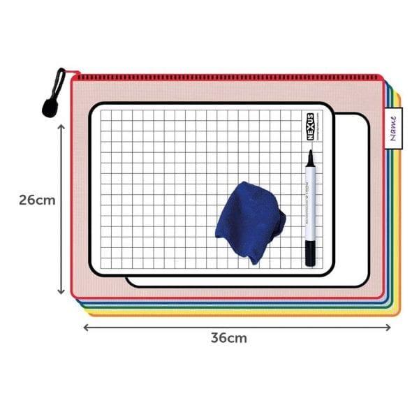 Nexus A4 Grid Writing Board Essential Kit – 26cm x 36cm (30 Pack)
