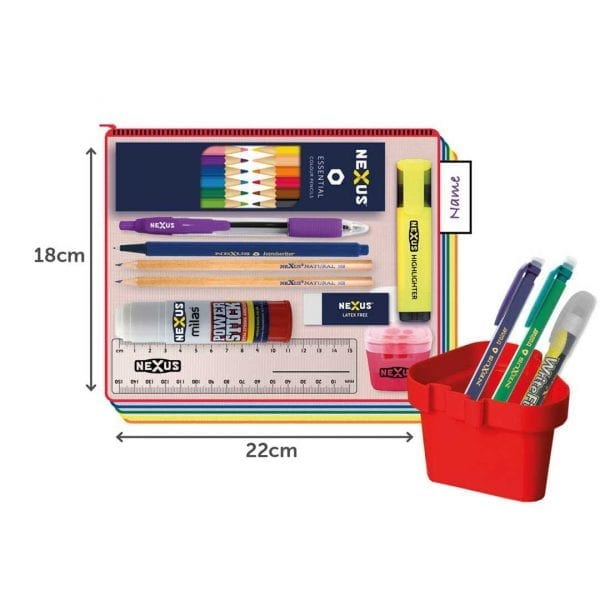 Nexus Juniors Essential Kit – 18cm x 22cm – Blue Pen (30 Pack)