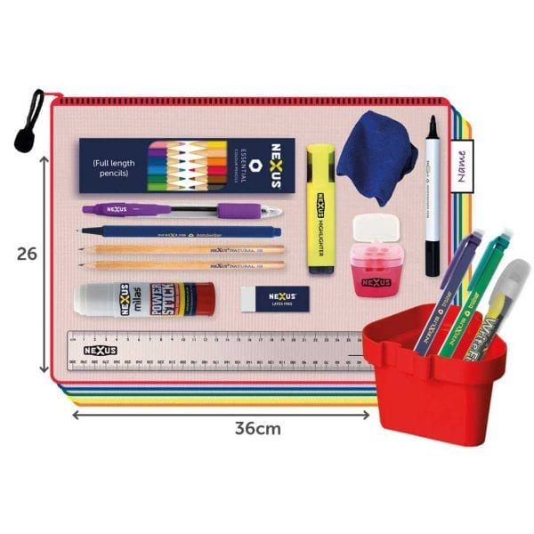 Nexus Juniors Essential Kit – 26cm x 36cm – Black Pen  (30 Pack)