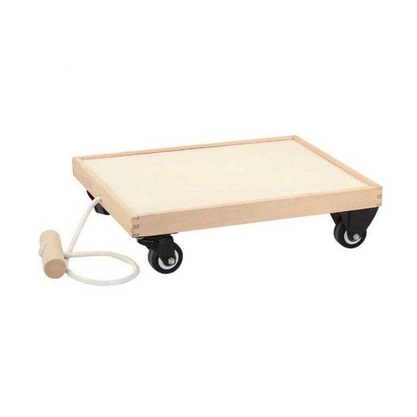 Block Play Wooden Cart