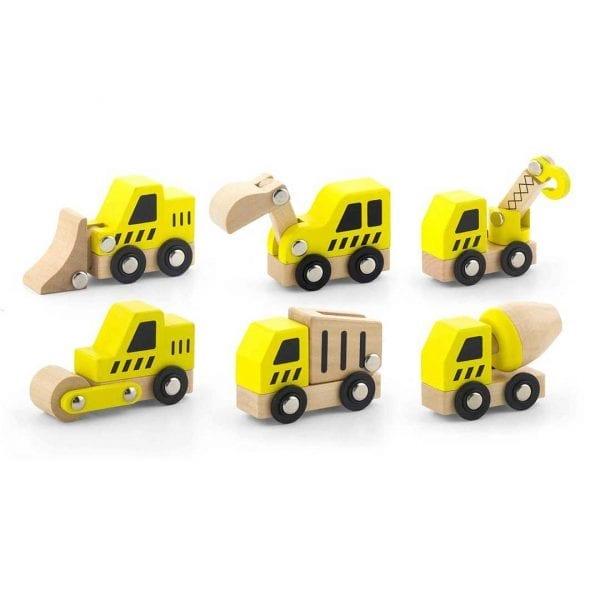 Nexus Wooden Construction Vehicles Set
