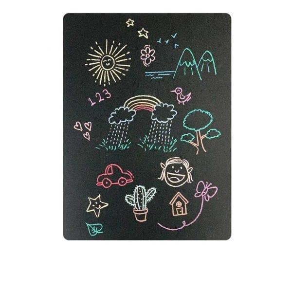 Blackboard Magnetic Sheet and Chalks Set