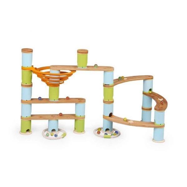 Nexus Bamboo Marble Run (89 Piece Set)