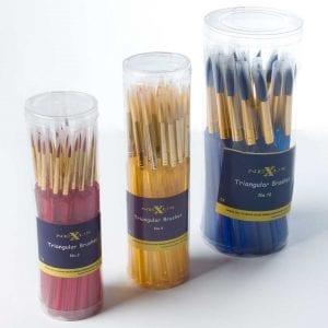 Nexus Triangular Paint Brushes (Tapered Ended)