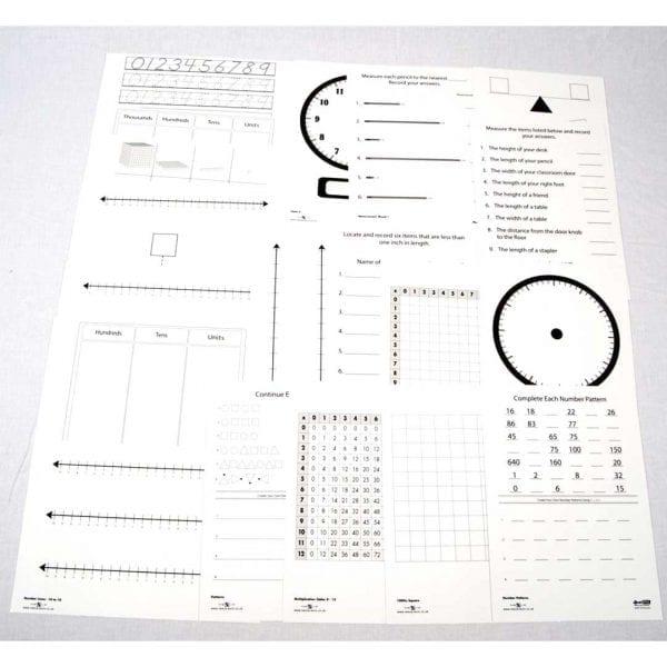 Nexus A4 Clear Board Work Cards