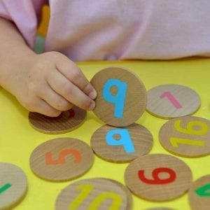 Wooden Matching Pairs 1-20