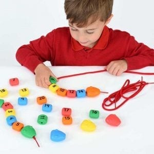 Number Sequencing Bead and String Maths Snakes