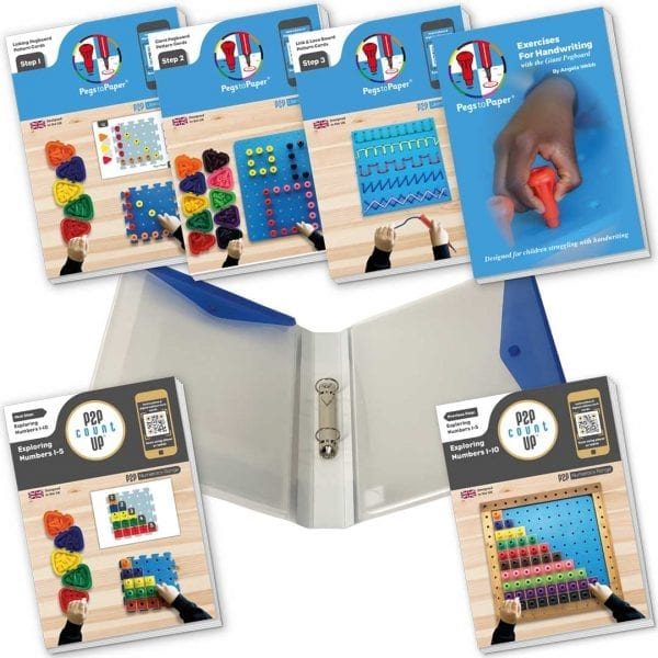 Complete Pegs to Paper & Pegs to Count Up Work Cards