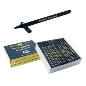 Nexus Triangular Handwriters Black – 166mm (100 Pack)