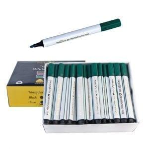 Nexus Triangular Whiteboard Pens Green (72 Pack)
