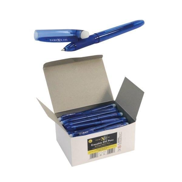 Nexus Erasable Gel Blue Pens (50 Pack)
