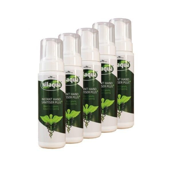 Nilaqua Hand Sanitiser – 200ml Foamer (5 Pack)