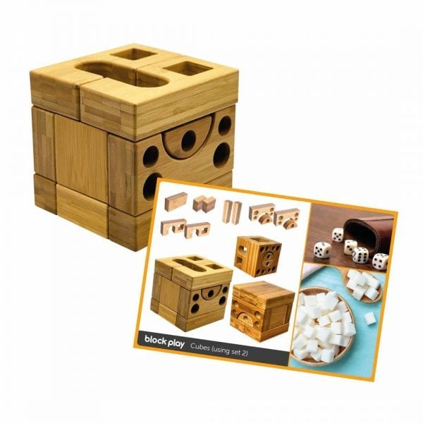 Block Play Sets 1 & 2 + Wooden Cart & Work Cards