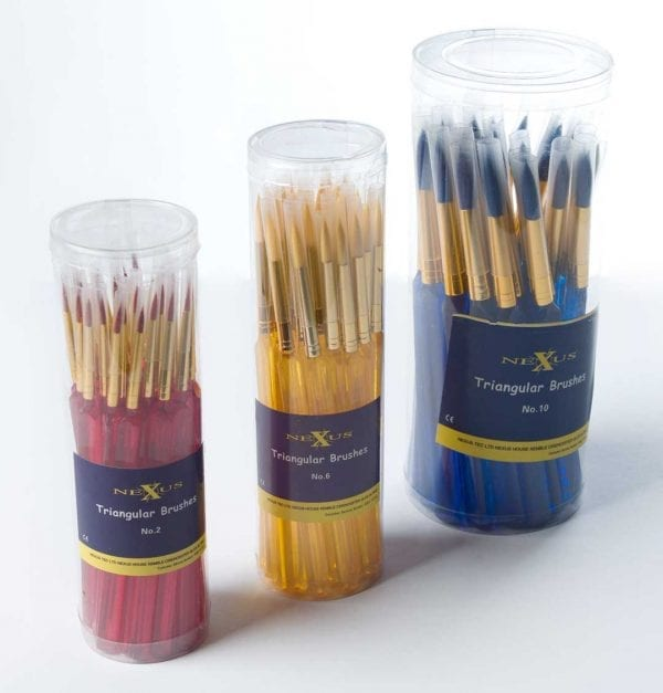 Nexus Triangular Paint Brushes (Tapered Ended)