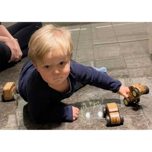 Block Play Bamboo Toy Cars