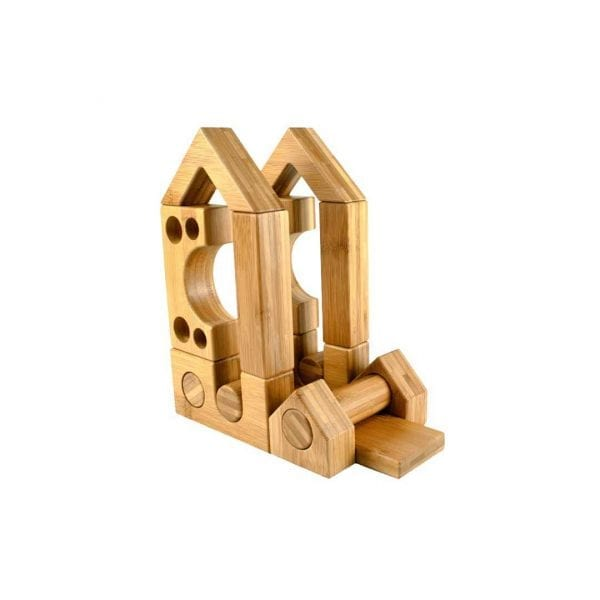 Block Play Sets 1 & 2 Wooden Cart & Work Cards