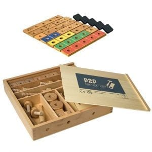 Pegs to Construction with Pegs to Count Up 1-5 Rods & Tiles