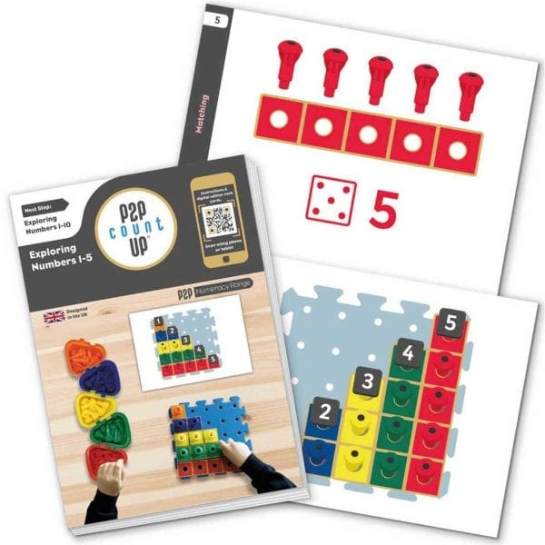P2P for Numeracy Numbers 1-10 Carbonated Bamboo Set With Work Cards