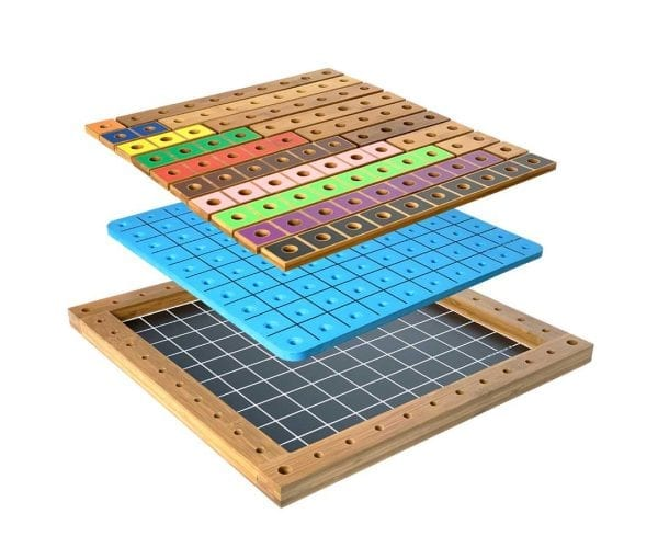 P2P for Numeracy 1-10 Carbonated Bamboo Frame with Pegboard & Rods