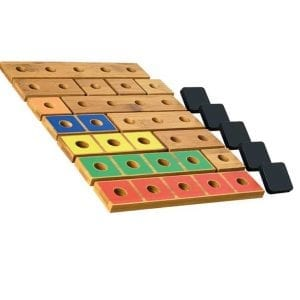 P2P for Numeracy Numbers 1-5 Rods & Tiles (Carbonated Bamboo)