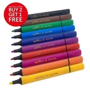 Nexus Triangular Colouring Pens (10 Wallets)