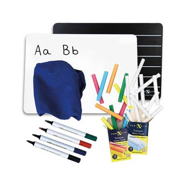 A4 Writing Chalkboard & Whiteboard Set