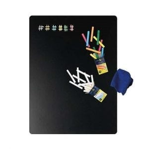 Blackboard Magnetic Sheet and Chalks Set