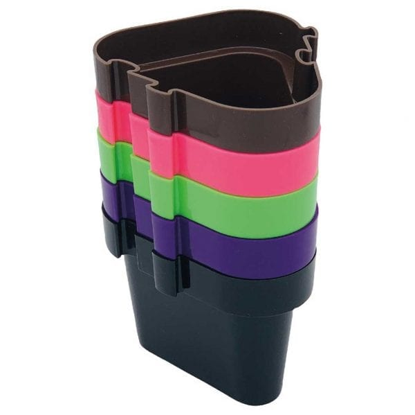 'Pegs to' Range 5 x Pots (Brown, Pink, Light Green, Purple, Black)