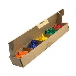 'Pegs to' Range 50 x Pegs (Orange, Blue, Yellow, Dark Green, Red)