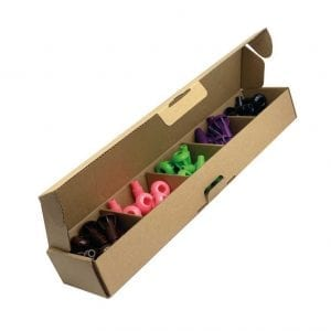 P2P 50 x Pegs in Box (Brown, Pink, Light Green, Purple, Black)