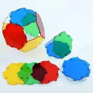 Crystal Polydron Bulk Sets 20 Hexagons