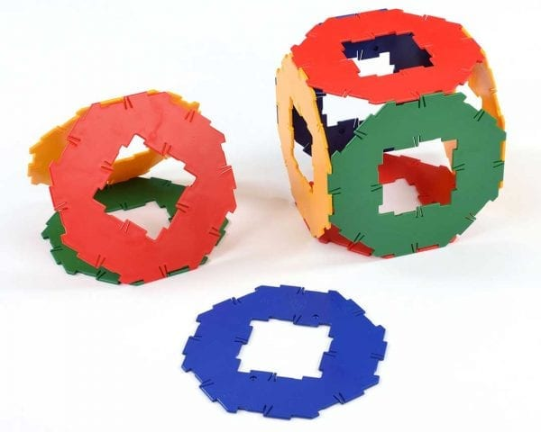 Polydron Bulk Sets 10 Octagons with Cut-Out