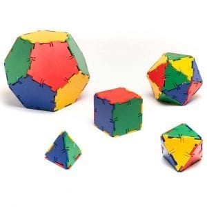 Polydron Platonic Solids Set