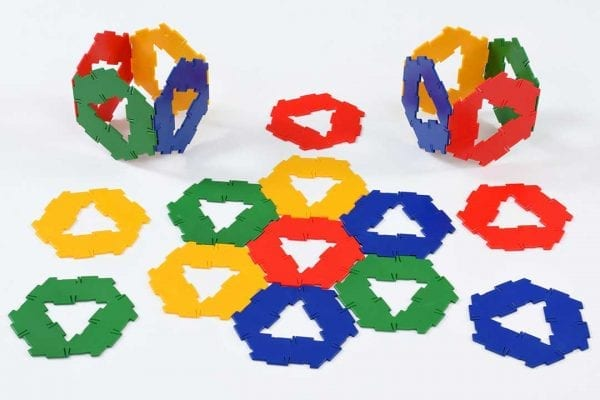 Polydron Bulk Sets 20 Hexagons with Cut-Out