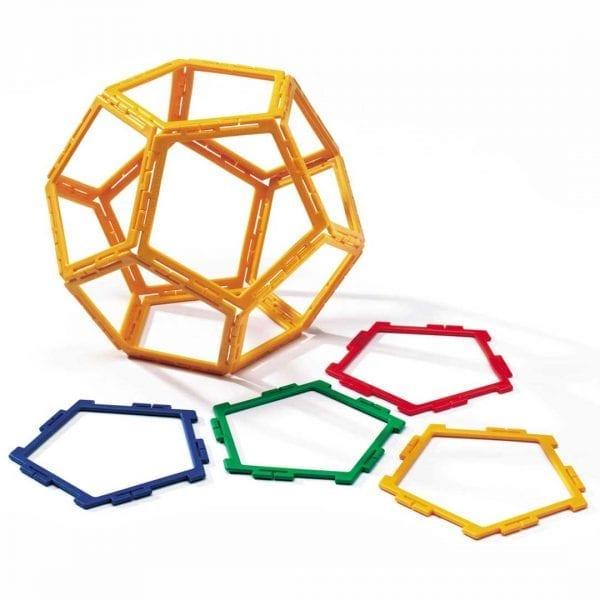 Polydron Frameworks Bulk Sets 40 Pentagons