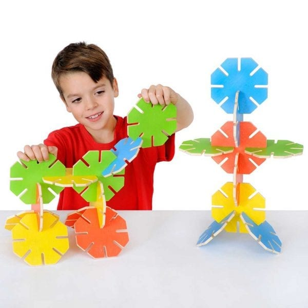 Wooden Octoplay Bright Colours Set