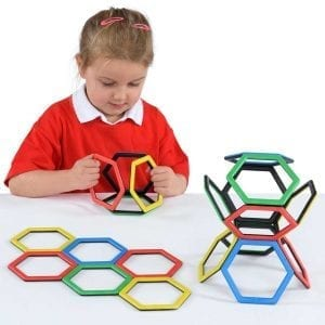 Magnetic Polydron Hexagon Set
