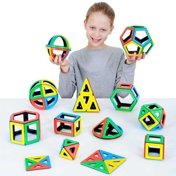 Magnetic Polydron Mathematics Set