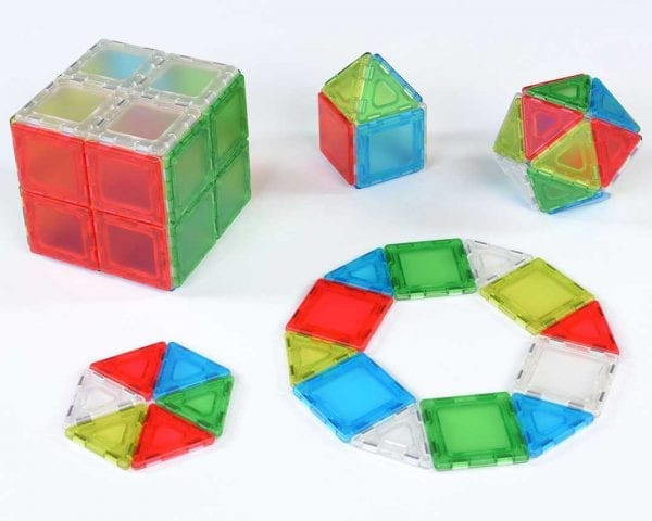 Translucent Solid Magnetic Polydron Class Set