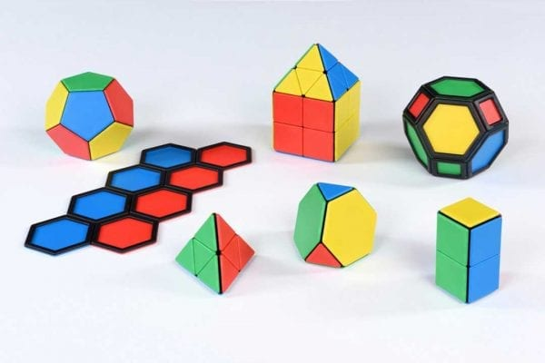 Solid Magnetic Polydron Essential Shapes Set
