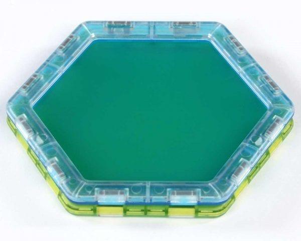 Translucent Solid Magnetic Polydron Essential Shapes Set
