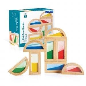 Sensory Rainbow Blocks Coloured Sand