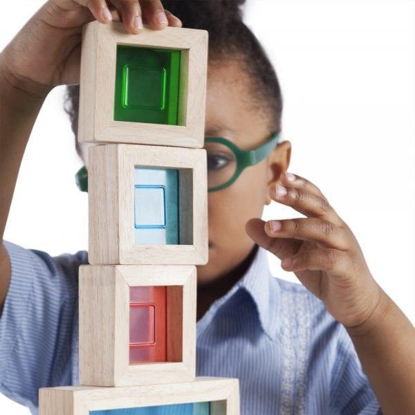 Sensory Rainbow Blocks Coloured Acrylic Inserts
